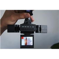 car video recorder, two camera car DVR with ultra wide Angle lens