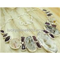 druzy jewelry handmade wholesale fancy jewelry Necklaces agate geode druzy drusy