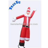 funny inflatable Christmas decoration air dancer sky dancer for advertisement or promotion