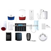 Burglar Alarm Wireless Pir Sensor,Door/Window Sensor,Flashing Siren