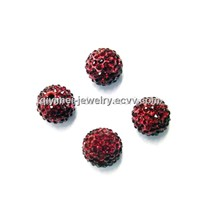 Crystal Round Beads Dark Red 10mm