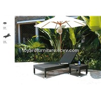 Outdoor furniture rattan/wicker lounger ( L638 & L638-ST)