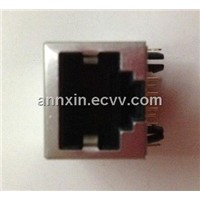 90 Degree 1*1 RJ45 Connector with Shield