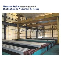 Aluminum profile electrophoresis production workshop