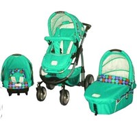 Baby pushchair with car seat with carrycot EN1888