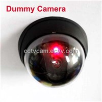 Black CCTV Dome Security Dummy Camera with flashing Red Led light H13