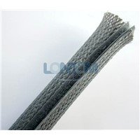 Braided Expandable Cable Sleeve with Hook and Loop