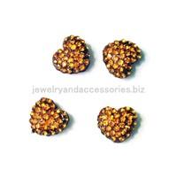 Crystal Oval Beads Orange 10mm