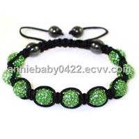 Fashion Shamballa bracelet with crystal balls