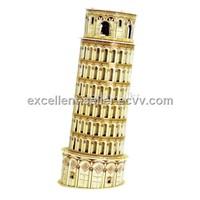 Free shipping, Leaning tower of pisa,DIY 3D three-dimensional puzzle,educational toys