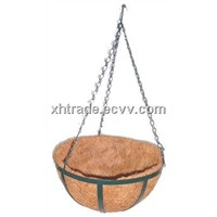 Hanging Coir Basket, Coconut Fibrous Basket for Flowers and Plants