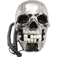 Hot Selling Skull Skeleton Shaped Telephone with Flashing Eyes and Corded Land Line