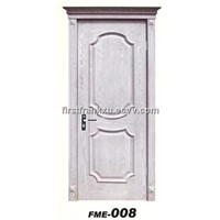 Interior door  ,made by solid wood , mdf ,and natural wood veneer