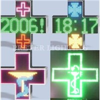 Outdoor Waterproof LED Pharmacy Cross Display Sign