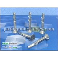 SS304 Flat Head Phillips Self Drilling Screws With Wings