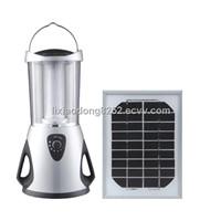 Solar camping lantern with solar panel