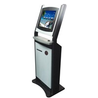 The self-service touch screen kiosk embedded steel keyboard and thermal printer YLA-0014