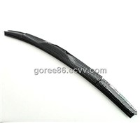 UNIVERSAL BRACKETLESS J HOOK AUTO CARBON FIBER WINDSHIELD WIPER BLADE