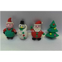 cartoon drawing eraser for christmas day