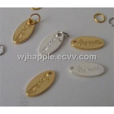 Embossed Metal Label Custom Metal Badge Brass Furniture Label Brass Embossed Label China