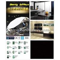 1400X3000 2CM super black quartz surface slab
