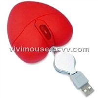 Heart Shape gift Mini Laptop Computer  Mouse (VST-MM208)