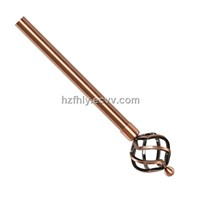Big Twist Copper Finial Iron Curtain Rod