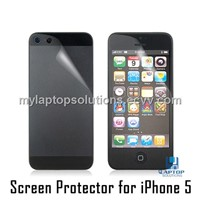 Clear HD back and front double screen protector for iPhone 5