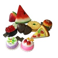 Custom Food PVC USB Flash Drive for Promotional Gifts