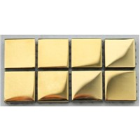 Gold Plating Glass Mosaic Tiles
