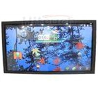 HT-LCD82M2, 82 inch multi touch screen monitor,touch LCD TV with front panel fancy design
