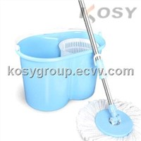 Microfiber spin mop and bucket