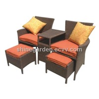 Patio Wicker Furniture Dining Set