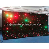 RGBY LED Star Curtain Cloth Stage Backdrop 2*3m 8 Channels 17 Effects
