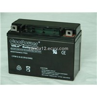 motorcycle battery CPM 12V-6.5AH