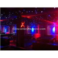 Night Club Decoration, Stage Backdrop / RGB Star Curtain for Wedding Decoration
