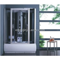 shower room with hydromassage and foot massage device MJY-8020