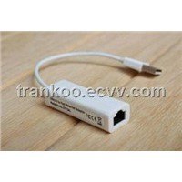 USB Ethernet Adapter USB2.0 to RJ45 Fast Ethernet Adapter for Tablet PC and Macbook