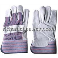 full palm cow split leather Standard Canadian working gloves