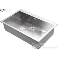 AT82S Single Bowl Stainless Steel Kitchen Sink