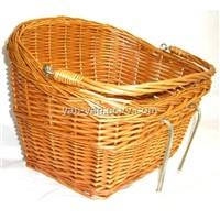 City bicycle wicker basket