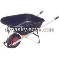 Heavy Duty Large Capacity Poly Bucket Wheelbarrow-WB7801 for garden, lawn and construction etc.