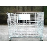 High Quality Wire Storage Container / Collapsible Wire Mesh Bins