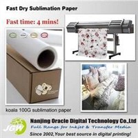 100g Fast Dry Dye Sublimation transfer paper