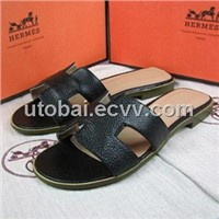 Brand hermes ladies flat sandal/ women slipper