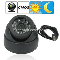 Dome 1/4 Inch CMOS CCTV Surveillance DVR Camera W/ 24pcs LED Night Vision Hidden Security Monitoring TF Video Recorder