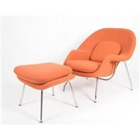 Eero Saarinen Womb Chair with Ottoman