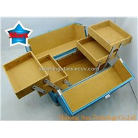 Fashion Blue Cosmetic Box with Tray