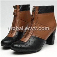 Lady chanel high-heel boot sheepskin leather boots ladies shoes