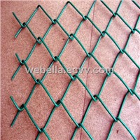 PVC coated chain link fence/chain link wire mesh/chain link fencing